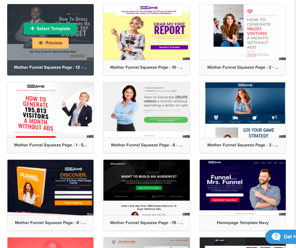 clickfunnel templates