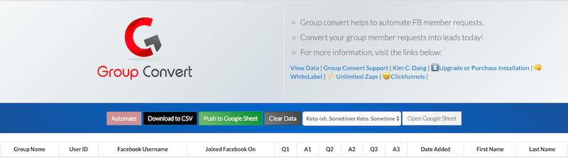 group convert database