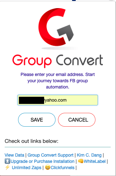 group convert enter email