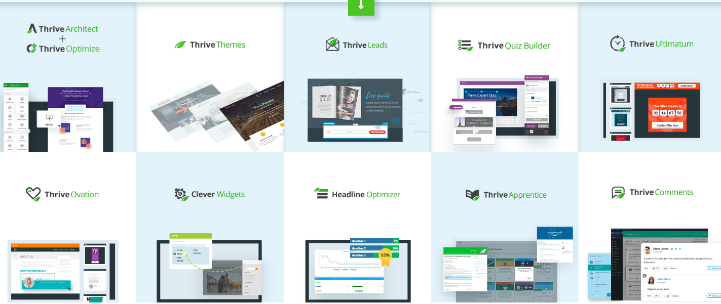 thrive theme products