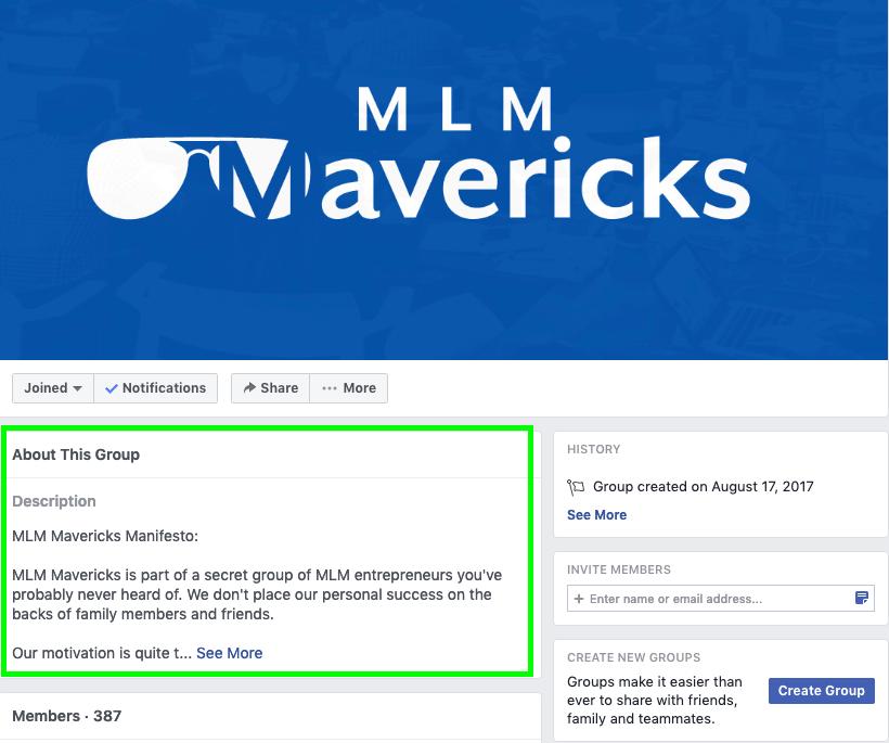 secret mlm hacks facebook group