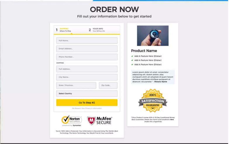 ecommerce order form
